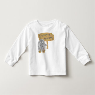 i believe in believing toddler t-shirt