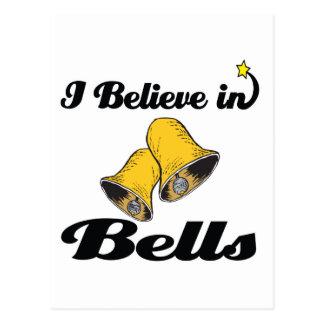 i believe in bells postcard