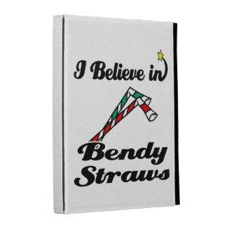 i believe in bendy straws iPad cases