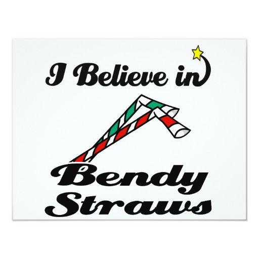 i believe in bendy straws 4.25x5.5 paper invitation card