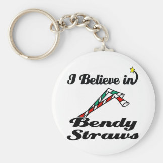 i believe in bendy straws keychain