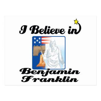 i believe in benjamin franklin postcard