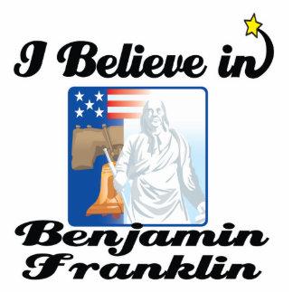 i believe in benjamin franklin standing photo sculpture