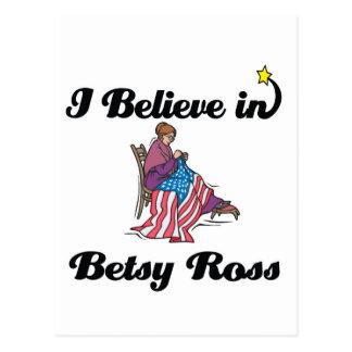 i believe in betsy ross postcard