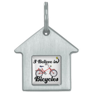 i believe in bicycles pet ID tags