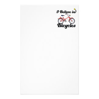 i believe in bicycles custom stationery