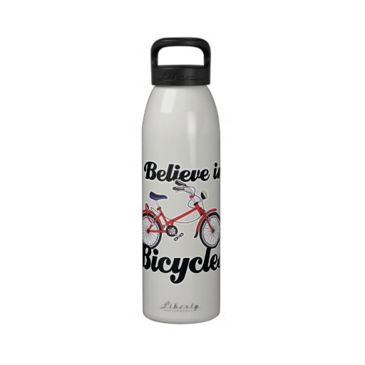 i believe in bicycles water bottle