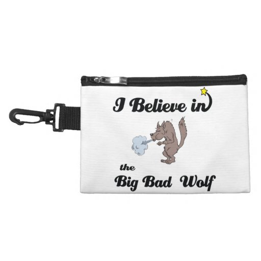 i believe in big bad wolf accessory bags