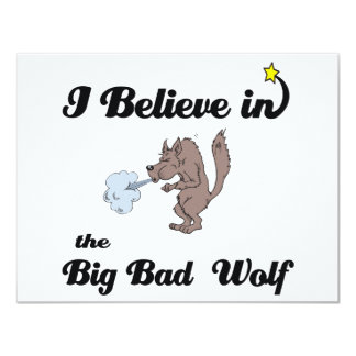 i believe in big bad wolf personalized invites