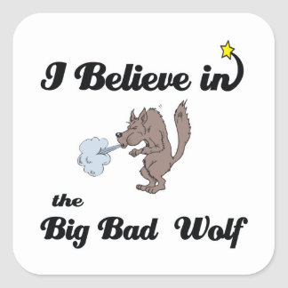 i believe in big bad wolf stickers