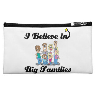 i believe in big families cosmetic bag