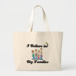 i believe in big families jumbo tote bag