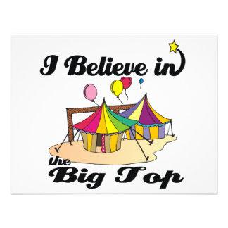 i believe in big top invites