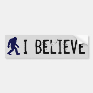 I Believe in Bigfoot Bumper Sticker