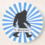 I Believe in Bigfoot Drink Coasters