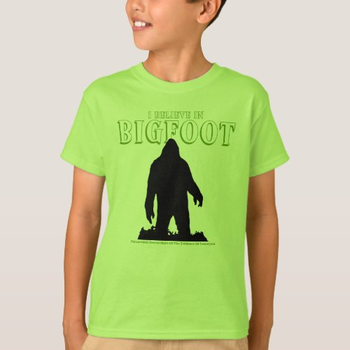I Believe In Bigfoot For Kids shirt