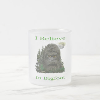 I believe in Bigfoot Frosted Glass Coffee Mug