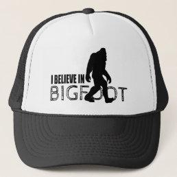 I Believe in Bigfoot  Funny Sasquatch Trucker Hat