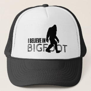 I Believe in Bigfoot Funny Sasquatch Trucker Hat 45779af51521