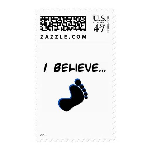 I Believe in Bigfoot Postage Stamp