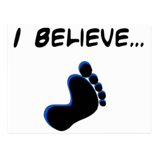 I Believe in Bigfoot Postcard