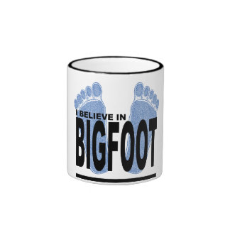 I Believe in Bigfoot Ringer Coffee Mug