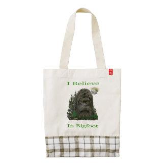 I believe in Bigfoot Zazzle HEART Tote Bag