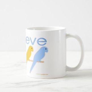 I believe in birds coffee mug