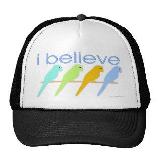 I believe in birds mesh hats