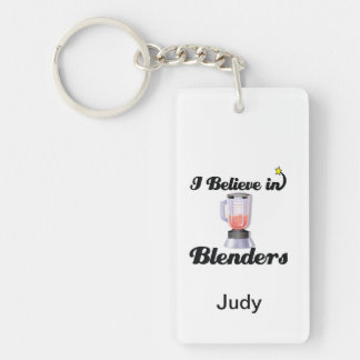 i believe in blenders Double-Sided rectangular acrylic keychain