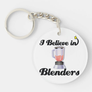 i believe in blenders Double-Sided round acrylic keychain