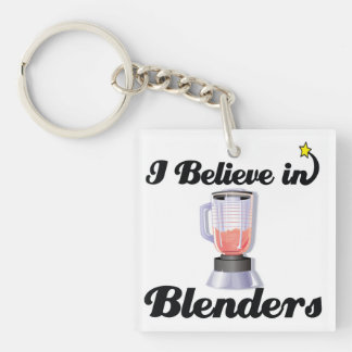 i believe in blenders Double-Sided square acrylic keychain