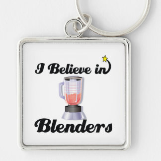 i believe in blenders Silver-Colored square keychain