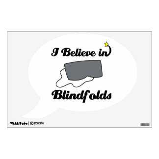 i believe in blindfolds wall decor