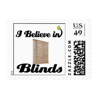 i believe in blinds stamp