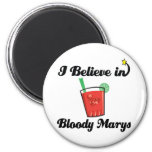 i believe in bloody marys 2 inch round magnet