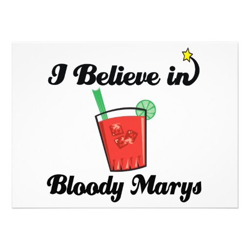 i believe in bloody marys personalized invitations