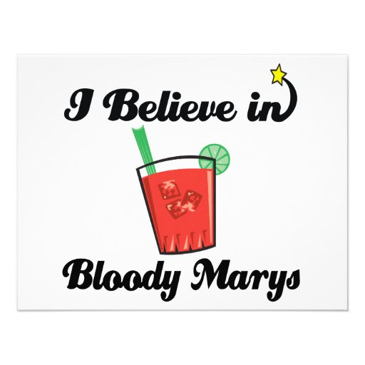 i believe in bloody marys personalized invites
