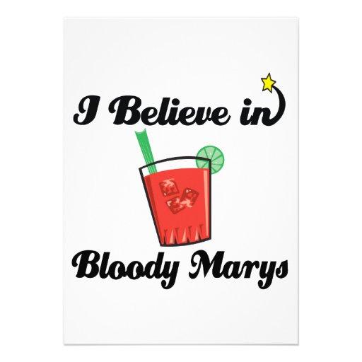 i believe in bloody marys invitations