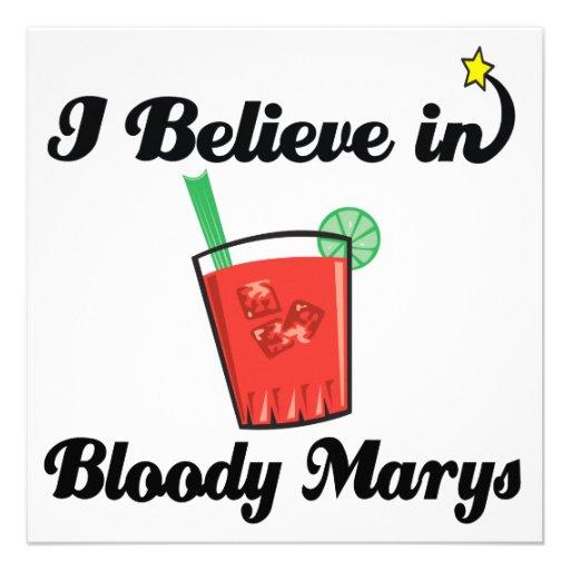 i believe in bloody marys personalized invite