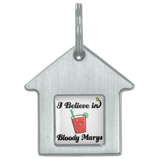 i believe in bloody marys pet name tag