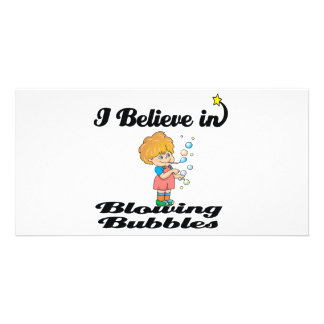 i believe in blowing bubbles photo card template