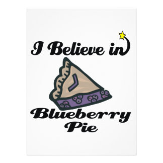 i believe in blueberry pie personalized invitation