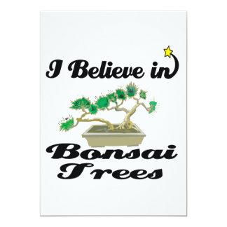 i believe in bonsai trees custom invite