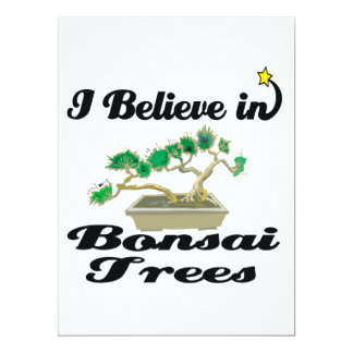 i believe in bonsai trees personalized invitation