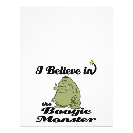"""i believe in boogie monster 8.5"""" x 11"""" flyer"""