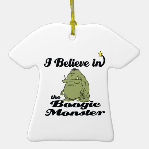 i believe in boogie monster Double-Sided T-Shirt ceramic christmas ornament