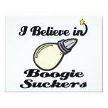 i believe in boogie suckers custom invitation