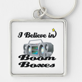 i believe in boom boxes keychain