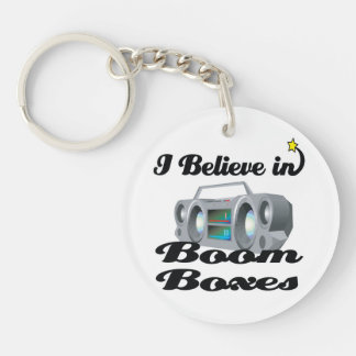 i believe in boom boxes round acrylic keychains